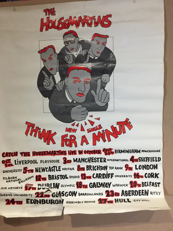 1986 Housemartins tour poster