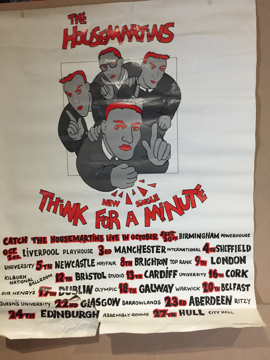 1986 Housemartins tour poster